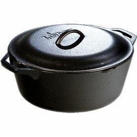 [ Lodge ] 鑄鐵鍋/燉鍋/湯鍋/免揉麵包烤模/油炸鍋 美國製 12吋汲水蓋平把鑄鐵鍋/30cm6.6升 L10DOL3/台北山水