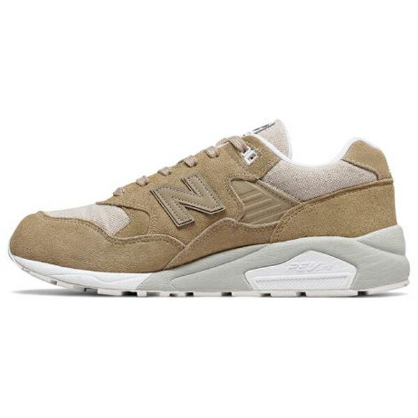NEWBALANCE580男鞋復古透氣舒適麂皮網布褐米【運動世界】MRT580EC