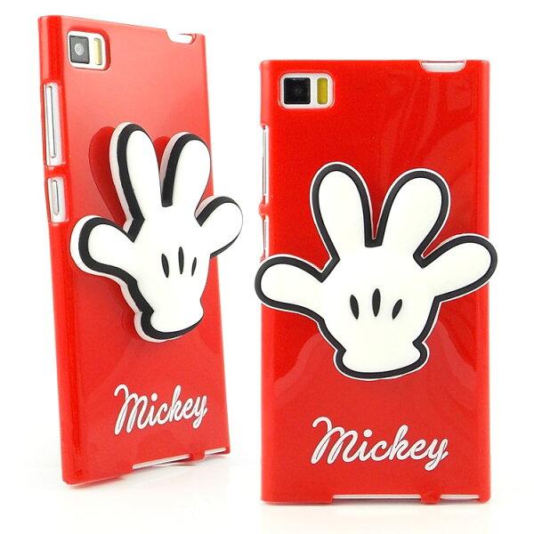 【Disney】Mi3小米3時尚手套造型捲線保護套