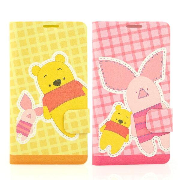 【Disney】HTCDesire816可愛玩偶維尼小豬時尚彩繪皮套