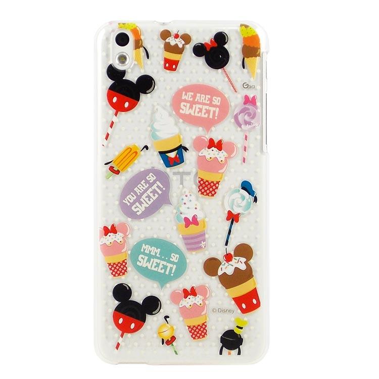 【Disney 】HTC Desire 816 彩繪可愛風透明保護殼-糖果冰淇淋