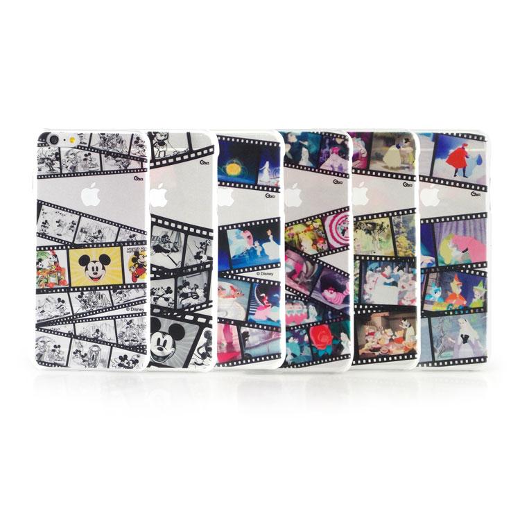 【Disney 】iPhone 6 plus 彩繪膠捲系列透明保護硬殼