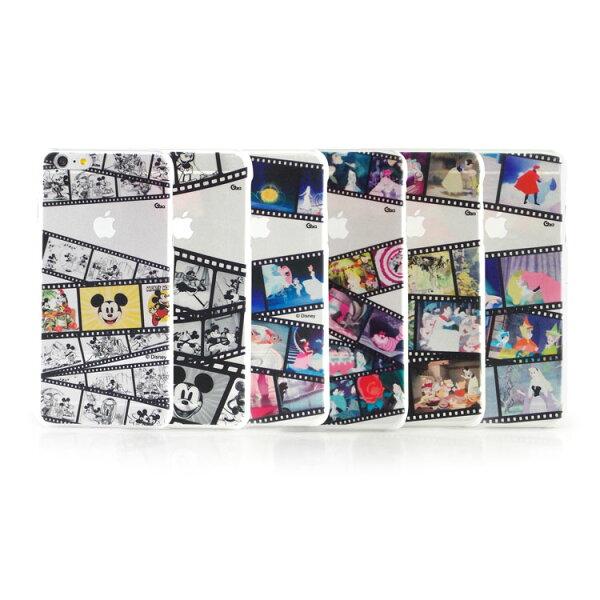 【Disney】iPhone6plus彩繪膠捲系列透明保護硬殼