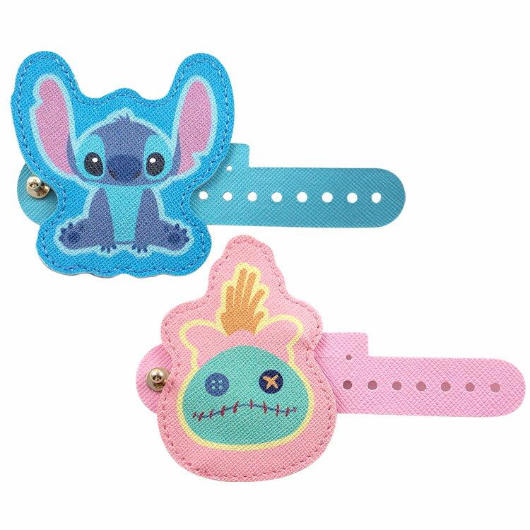 【Disney】 多用途可愛造型皮革捲線器-史迪奇/醜ㄚ頭