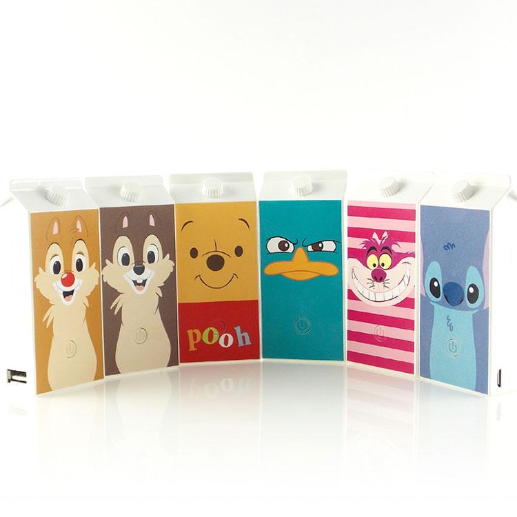 【Disney】5200mAh 可愛牛奶盒造型彩繪行動電源-大臉系列