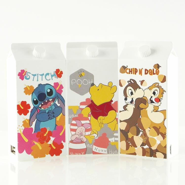 【Disney】5200mAh 可愛牛奶盒造型彩繪行動電源-主題系列