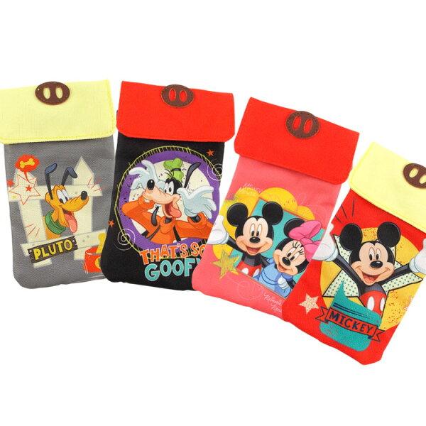 【Disney】5.5吋通用可愛雙層帆布手機袋