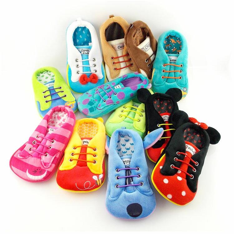 【Disney】 4.7吋通用可愛角色布鞋造型直入式票夾手機袋