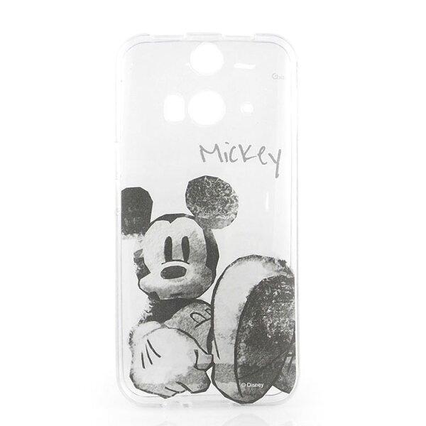 【Disney】HTCButterfly2彩繪手繪風透明保護套-水墨米奇