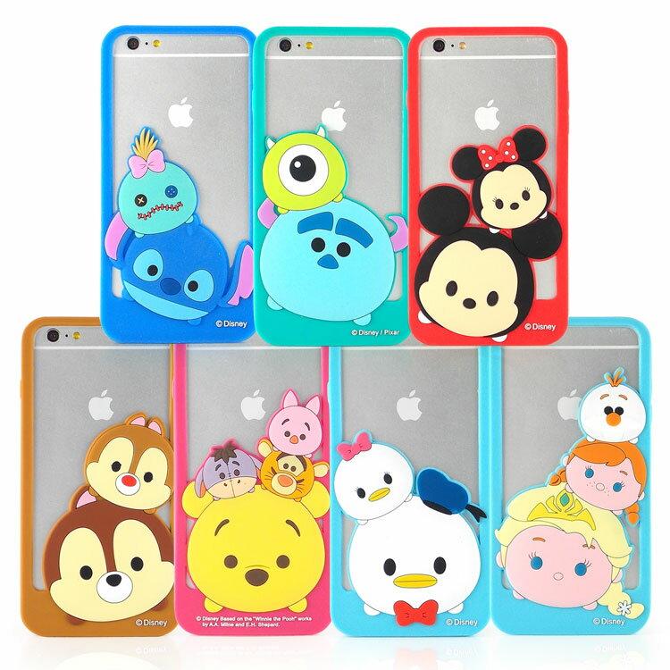 【Disney 】iPhone 6 plus TSUM TSUM 可愛造型立體矽膠邊框軟套