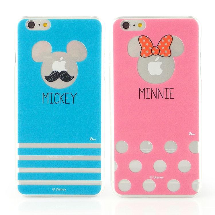 【Disney 】iPhone 6 plus 彩繪現代風透明保護硬殼