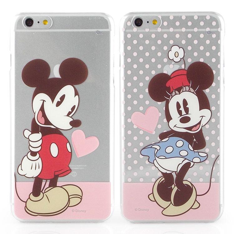 【Disney 】iPhone 6 plus 彩繪甜心風透明保護硬殼-米奇/米妮