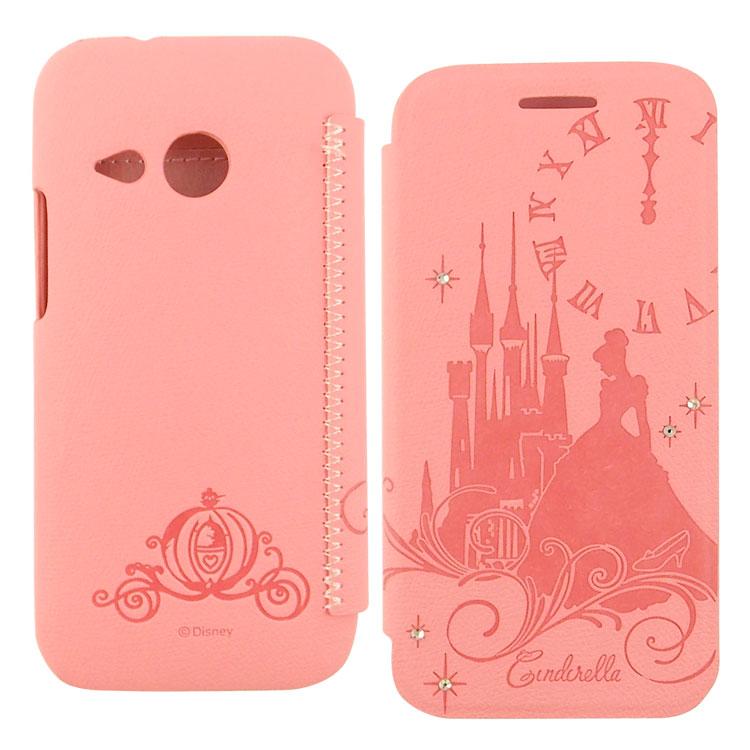 【Disney 】HTC One mini 2 公主系列Cinderella灰姑娘時尚水鑽壓紋皮套