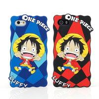 航海王週邊商品推薦ONE PIECE 航海王 iPhone SE/i5/i5s 2D立體保護套-嗨嗨方格魯夫