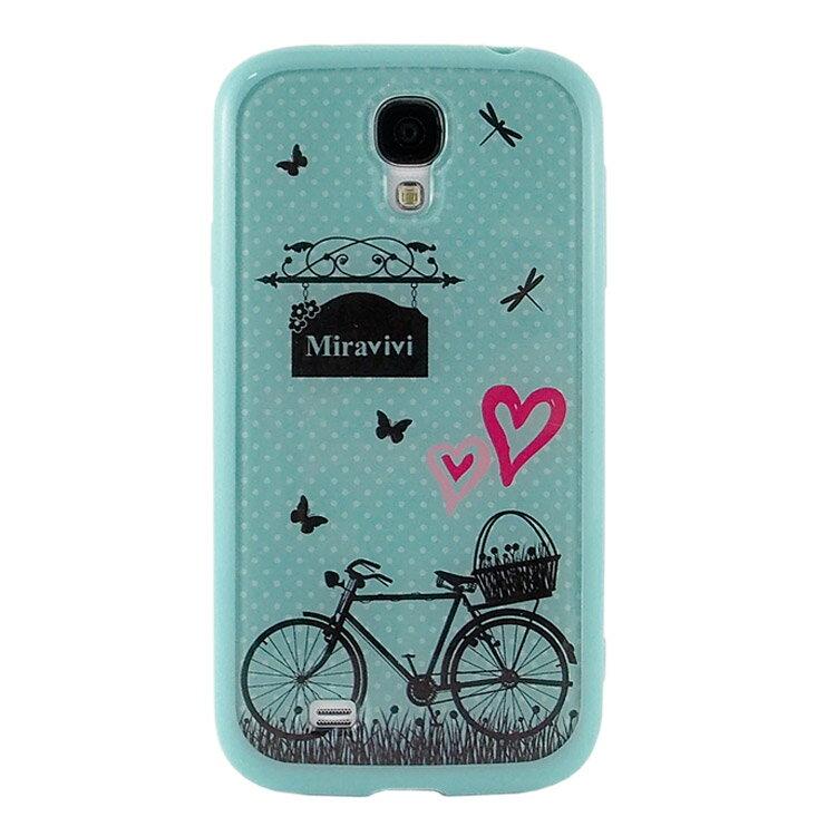 Miravivi Samsung Galaxy S4 彩繪插畫系列時尚保護雙料殼-鄉村腳踏車