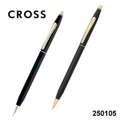 CROSS高仕ClassicCentury經典世紀系列250105黑金原子筆+自動鉛筆組