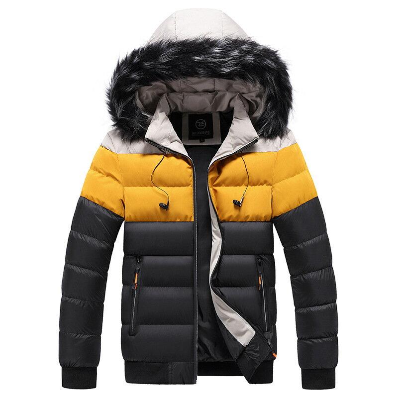 羽絨棉外套棒球領夾克-時尚撞色防風保暖男外套6色73kf20【獨家進口】【米蘭精品】