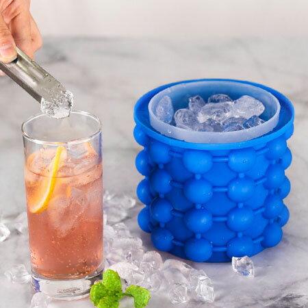 矽膠魔冰桶矽膠製冰桶製冰神器製冰盒保冰桶魔力冰桶製冰冰桶冰塊夏天冰鎮【N600192】