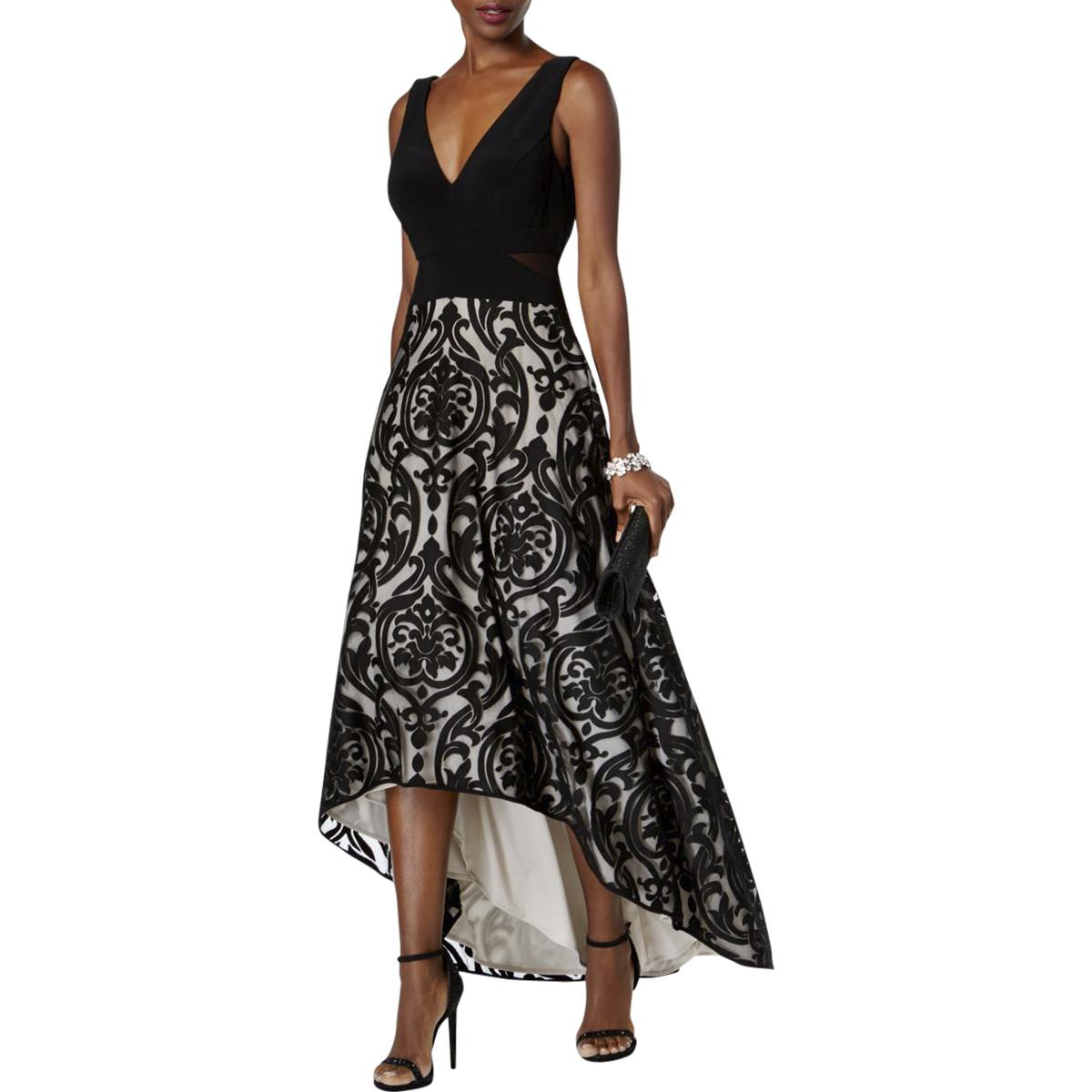 2b3bdf4355e BHFO  Xscape Womens Floral Print Hi-Low Evening Dress
