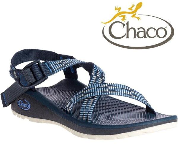 Chaco涼鞋越野紓壓運動涼鞋水陸鞋綁帶涼鞋-標準款女美國佳扣CH-ZLW01HE29萬花筒藍