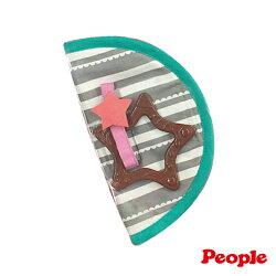 【淘氣寶寶*people 系列滿499,加贈多功能可愛造型固定夾】日本 People 口水防污安撫套(巧克力)