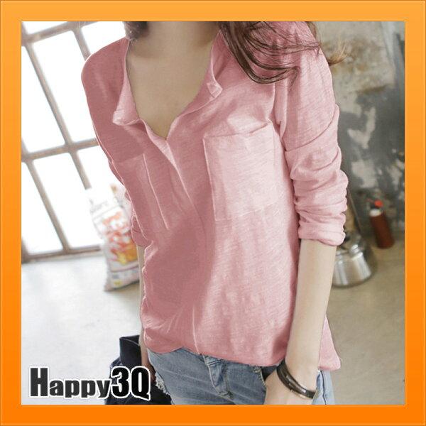 長袖上衣純製襯衫單穿百搭打底衫隨興男友風穿搭-白黑粉紅橘紫灰黃藍S-3XL【AAA4195】