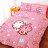 (免運費)正版卡通授權台灣製造【kanahei卡娜赫拉 / 兔兔&P助-粉】單人床包枕套組 / 雙人床包組 / 雙人被套 / 6X7尺兩用被 / 鋪棉被套 / 枕套組 / 枕頭套 - 限時優惠好康折扣