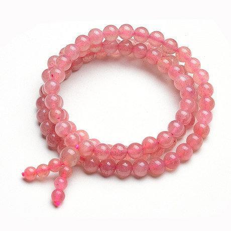 水晶薔薇晶草莓晶手鏈粉色女款多圈串手鏈穩感情旺夫