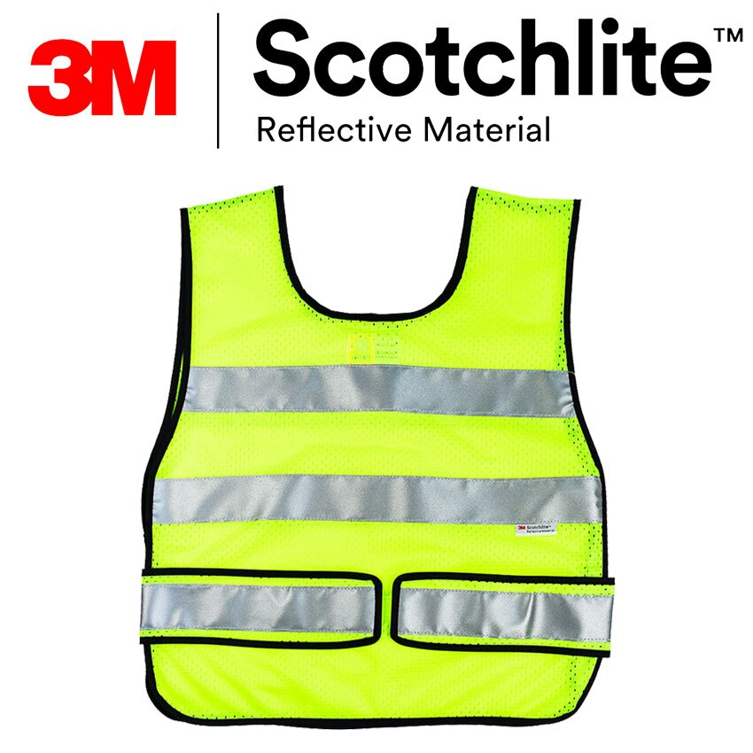 Safetylite 螢黃U型網紗反光安全背心 3M Scotchlite反光