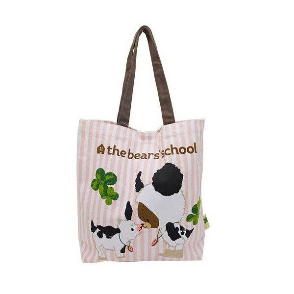 條紋款【日本進口正版】小熊學校 帆布 托特包 肩背包 手提袋 The Bears\