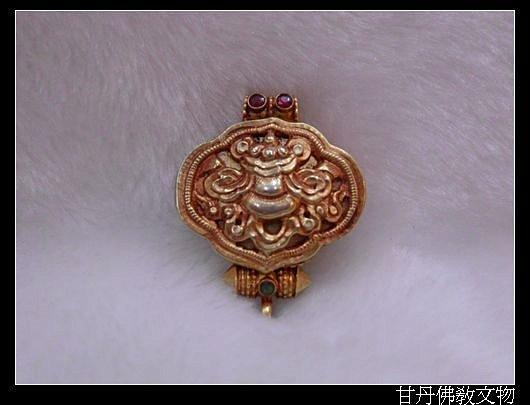 925純銀^~八吉祥之 寶幢嘎屋^~尼泊爾 ^~隨身佛龕