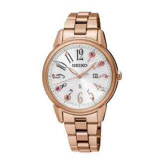 Seiko Lukia V137-0CG0G(SUT302J1)紅金限量時尚腕錶/白面33mm
