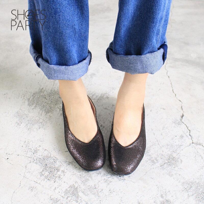 【P2-17607L】 小方頭平底鞋_Shoes Party 1