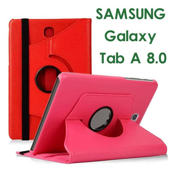 【旋轉、斜立】三星 SAMSUNG Galaxy Tab A 8.0 P350/P355 平板專用 荔枝紋皮套/書本式保護套/側掀支架展示