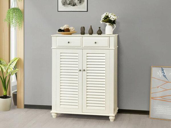 !新生活家具!《茱麗葉》白色鞋櫃收納櫃多功能櫃玄關櫃裝飾櫃斗櫃抽屜美式古典簡約時尚