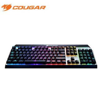 美洲獅COUGAR ATTACK X3 RGB 機械式鍵盤-紅軸英刻 /紅光背光/懸浮式按鍵/全鋁上蓋
