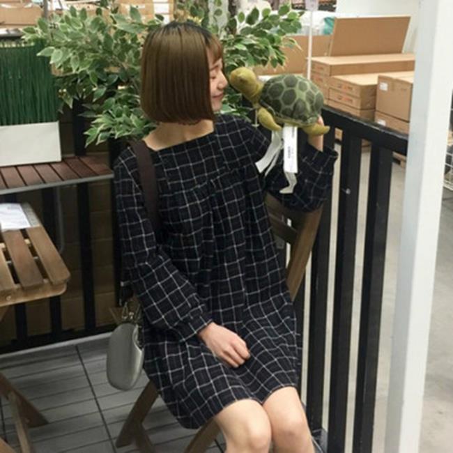 50%OFF SHOP【G022053C】(實拍)韓版寬鬆超好看學院風2色格子裙-洋裝紗裙牛仔外套大學t短T背心