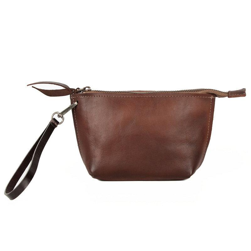 側背包真皮手拿包-復古純色植鞣牛皮女包包5色73wv7【獨家進口】【米蘭精品】