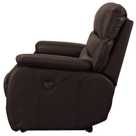 ◎全皮3人用頂級電動可躺式沙發 BELIEVER2 DBR NITORI宜得利家居 2