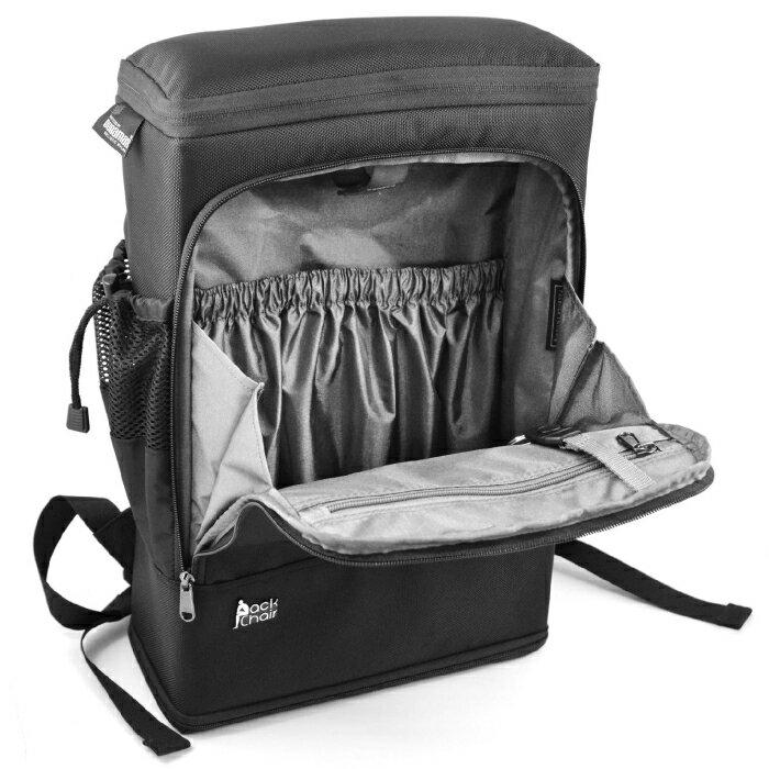 PackChair椅子包 盾牌包 防身包 電腦包 後背包 自助旅行包 黑色有胸扣版 7