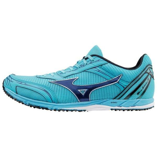 運動世界:MIZUNOWAVEEKIDEN11男鞋慢跑馬拉松透氣網布天籃【運動世界】U1GD172014