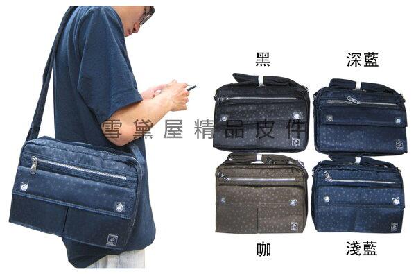 ~雪黛屋~SANDIA-POLO斜側包中容量二層主袋8吋平板套進口防水尼龍布隨身可肩背可斜側背BSP10176P035