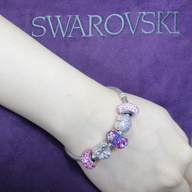 SWAROVSKI 施華洛世奇元素 925純銀手鍊 B14