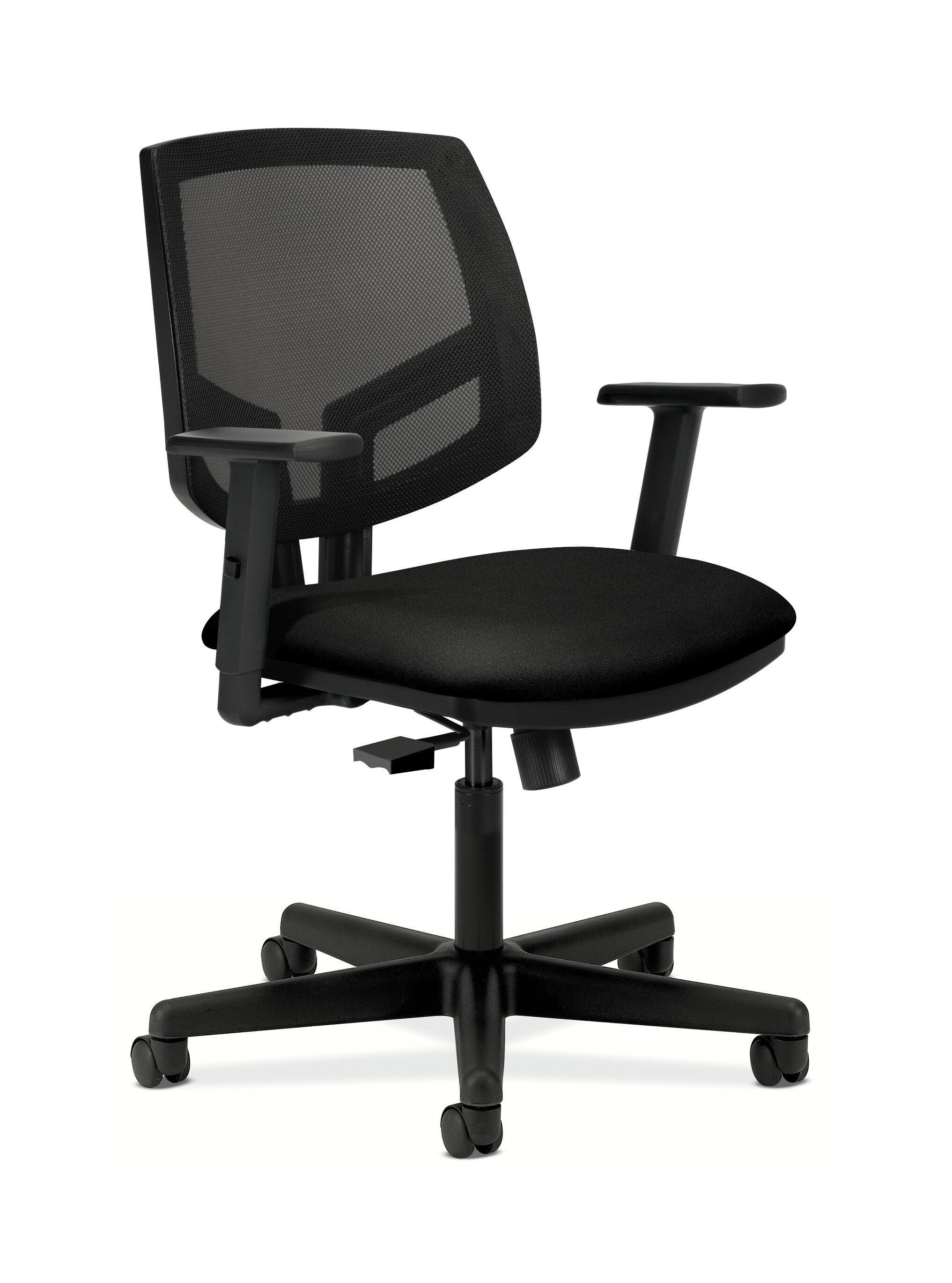 Hon Volt Mesh Back Task Chair Synchro Tilt Tension Lock Adjustable Arms Black Fabric