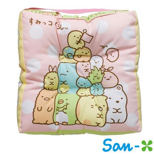 疊疊樂款【日本進口正版】San-X 角落生物 角落公仔 兒童坐墊 座墊 椅墊 靠墊 - 669993