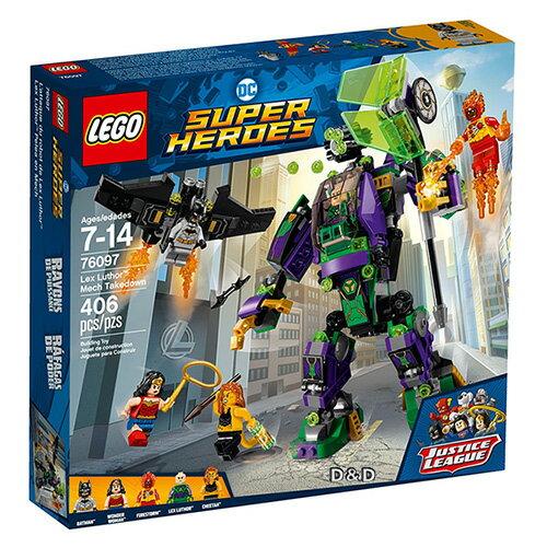 樂高積木LEGO《LT76097》2018年SUPERHEROES超級英雄系列-LexLuthor™MechTakedown