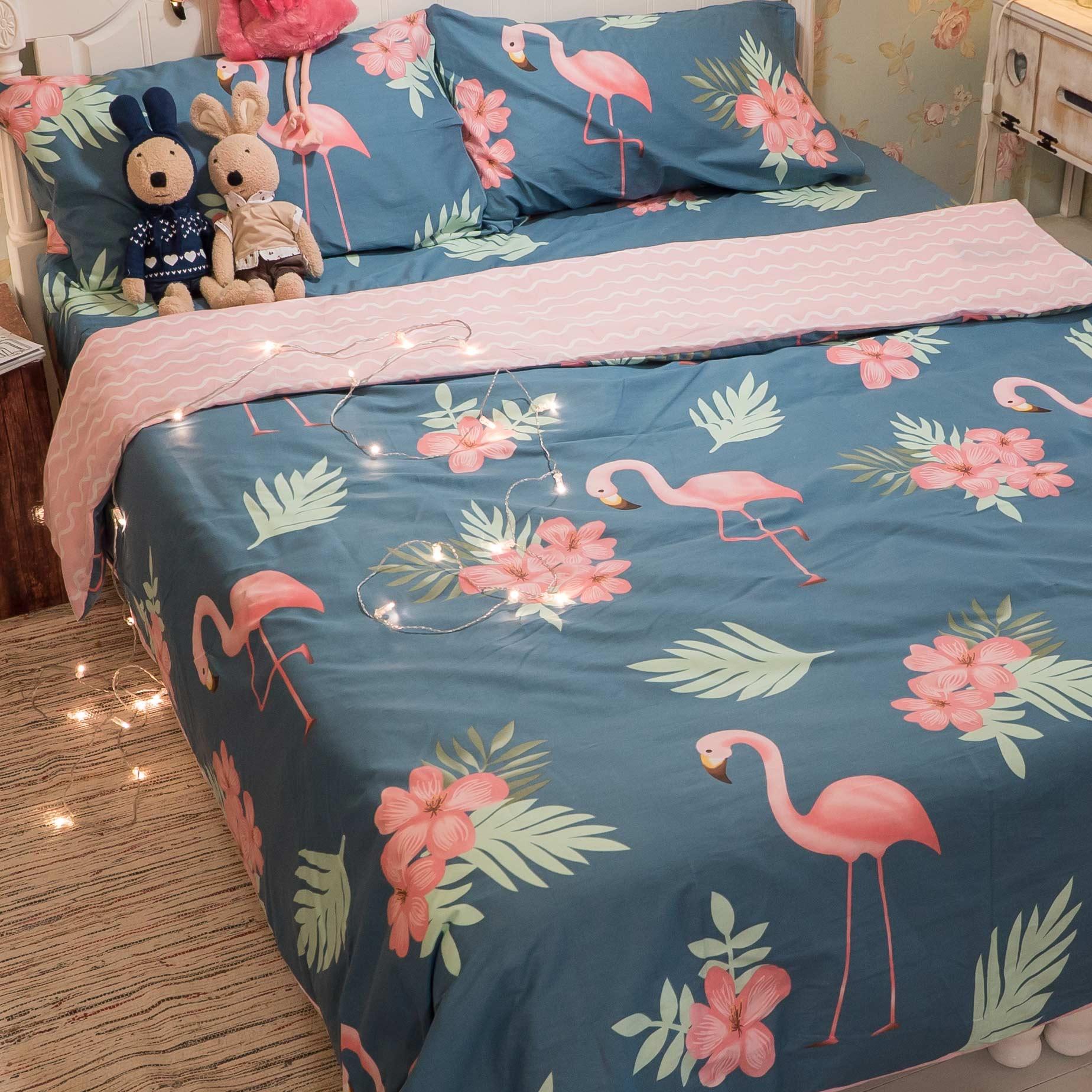 湯姆的紅鶴園 床包  被套  兩用被  枕套 單品賣場 精梳純棉
