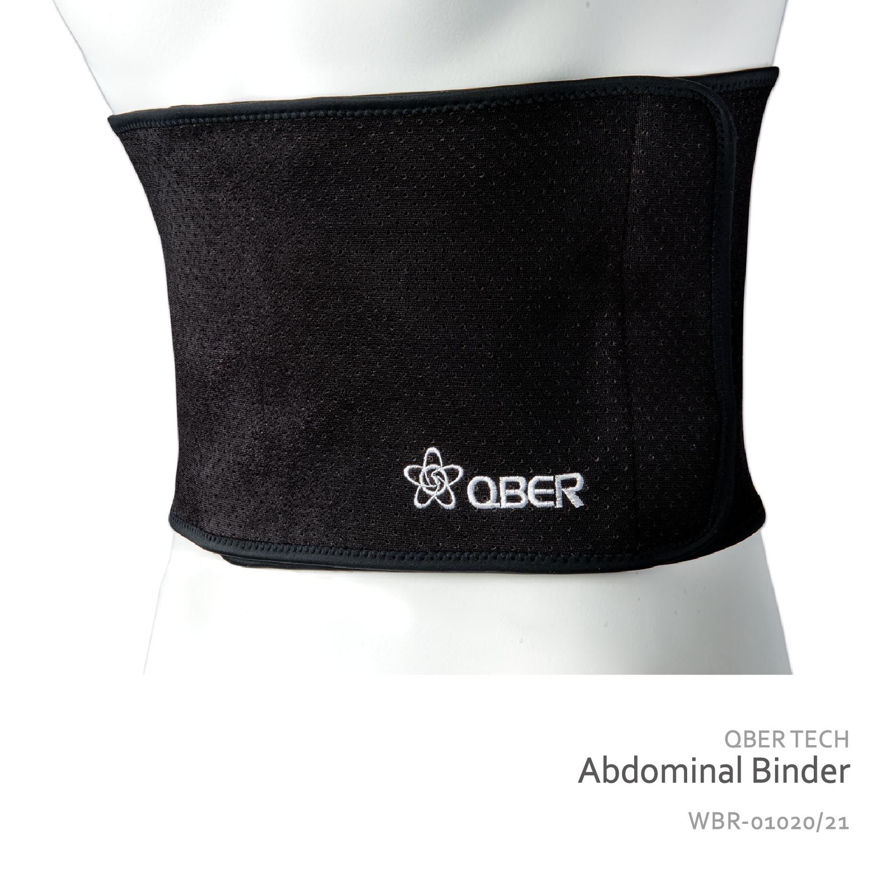QBER TECH單片式護腰帶-黑色