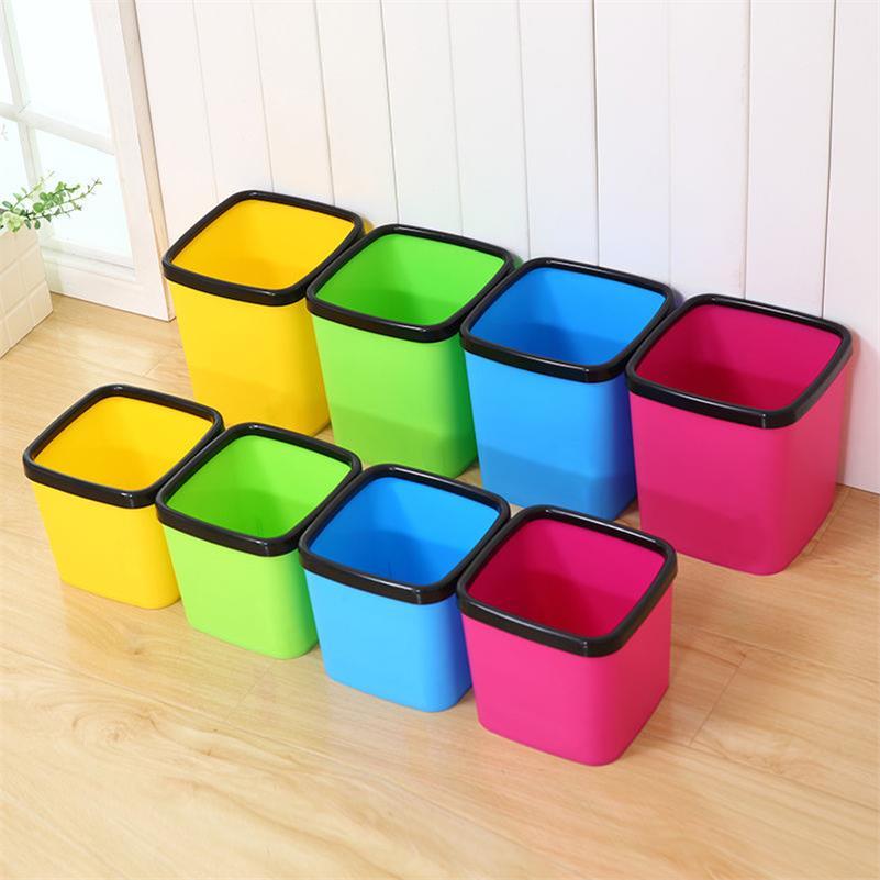 四方垃圾桶方形家用垃圾簍居家無蓋臺面廢紙桶床上臥室床邊收納桶1入