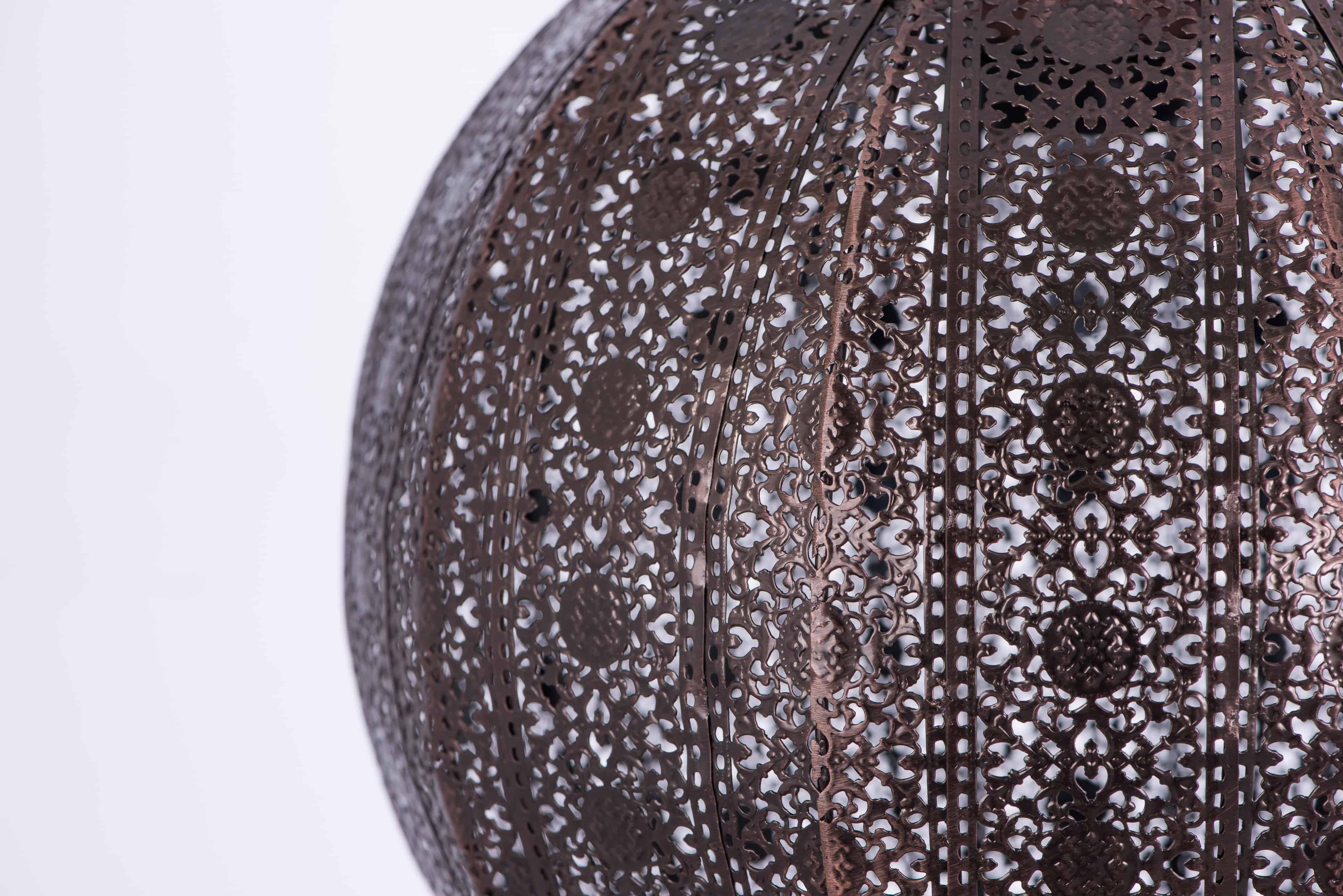 紅銅刷黑蕾絲花邊圓形吊燈-BNL00075 2